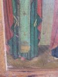 Икона Св.Николай, Богородица, Св.Варвара, Иисус Христос, фото №6