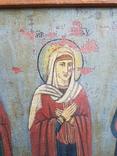 Икона Св.Николай, Богородица, Св.Варвара, Иисус Христос, фото №7