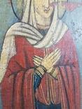 Икона Св.Николай, Богородица, Св.Варвара, Иисус Христос, фото №9