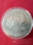One Dollar.Доллар США юбилейный., фото №2