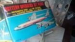 Самолет, 1970г, япония, на батарейках, jet plane twa 4916, фото №8