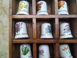 Наперстки Цветы набор на полке настенный декор, фото №5