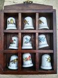 Наперстки Птицы набор на полке настенный декор в фирменной коробке, фото №2