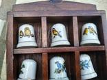 Наперстки Птицы набор на полке настенный декор в фирменной коробке, фото №5