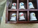 Наперстки Птицы набор на полке настенный декор в фирменной коробке, фото №7