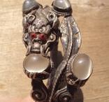 Старый браслет с лунными камнями., фото №8