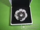 Кольцо в виде цветка 21.5г серебро 925, фото №2