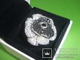 Кольцо в виде цветка 21.5г серебро 925, фото №4