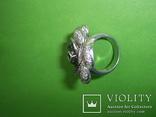 Кольцо в виде цветка 21.5г серебро 925, фото №5