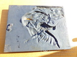 Настенное  панно  - чугун охота - -30 х 23,5 см - 3,175 кг - вальдшнеп - собака, фото №4