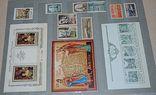 Не гашеные мира марки 590 шт блоки 169 шт сцепки 10 шт и альбом СССР новый, фото №11