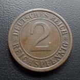 2 пфеннига  1924  Германия    ($5.3.10)~, фото №3