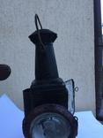 Фонарь железнодорожный лампа большая старинная массивная, фото №4