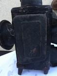 Фонарь железнодорожный лампа большая старинная массивная, фото №13