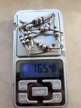 Серебряные бусы, фото №8