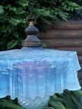 Старинная люстра с цветного стекла ( Франция ), фото №5