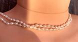 Жемчуг, позолота 14К, ожерелье 2 шт. по 40 см., фото №5
