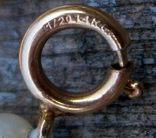 Жемчуг, позолота 14К, ожерелье 2 шт. по 40 см., фото №7