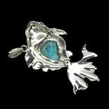 Авторское ожерелье с бирюзой и марказитами, фото №3