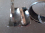 Набор серьги и кольцо р.18,  925 каштан.лист и тризуб, фото №4