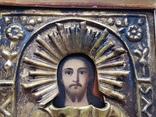 Икона Спаситель в окладе, фото №4