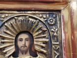 Икона Спаситель в окладе, фото №6