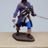 Пират с двумя саблями и тремя пистолетами на груди. Олово, раскрас, фото №5