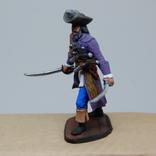 Пират с двумя саблями и тремя пистолетами на груди. Олово, раскрас, фото №6