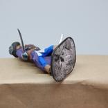 Пират с двумя саблями и тремя пистолетами на груди. Олово, раскрас, фото №11