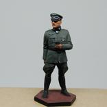 Немецкий офицер с перчатками. Период ВОВ. Олово, раскрас, фото №2