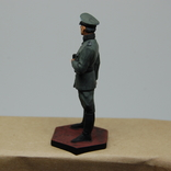 Немецкий офицер с перчатками. Период ВОВ. Олово, раскрас, фото №8