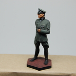 Немецкий офицер с перчатками. Период ВОВ. Олово, раскрас, фото №9