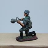 Немецкий солдат. Период ВОВ. Олово, раскрас, фото №5