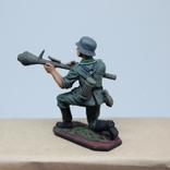 Немецкий солдат. Период ВОВ. Олово, раскрас, фото №6