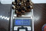 Широкий браслет с крупными темно-синими камнями., фото №8