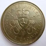 """Великобритания, Остров Мэн, 1 крона """"Елизавета II"""" 1977 г., фото №2"""