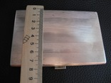 Портсигар серебро 800 пр , 114 гр, фото №5