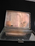 Портсигар серебро 800 пр , 114 гр, фото №8