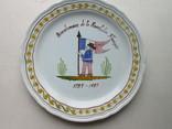 Тарелка Франция фаянс ручная работа., фото №2