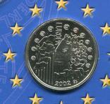 Франция 1/4 евро 2002 UNC серебро Буклет, фото №3