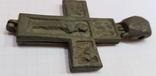 Энколпион 14-15в. (Распятие Христово с Предстоящими - Богородица Агиосоритисса), фото №8