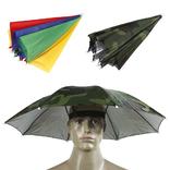 Механический зонт-шапка на голову от дождя и солнца