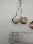 Серьги с перломутром серебро, фото №4