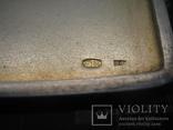 Серебряный портсигар 84 пробы позолота золотые накладки, фото №12