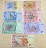 Набор банкнот Украины выпуска 2013-15 гг. От 1до 100 грн ПРЕСС, фото №3