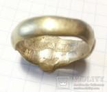 Перстень рогач, серебро в позолоте, фото №7
