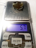 Перстень рогач, серебро в позолоте, фото №9