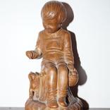 Статуэтка Мальчик с собачкой 1955 год.С грамотой за эту работу., фото №3
