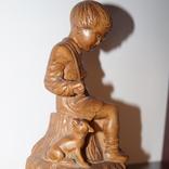 Статуэтка Мальчик с собачкой 1955 год.С грамотой за эту работу., фото №4