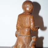 Статуэтка Мальчик с собачкой 1955 год.С грамотой за эту работу., фото №8